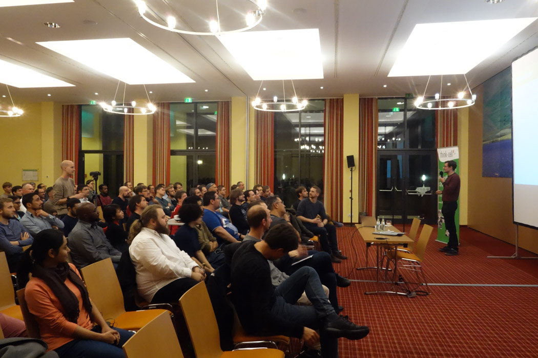 Our CTO Arno gives his talk in front of over 150 developers