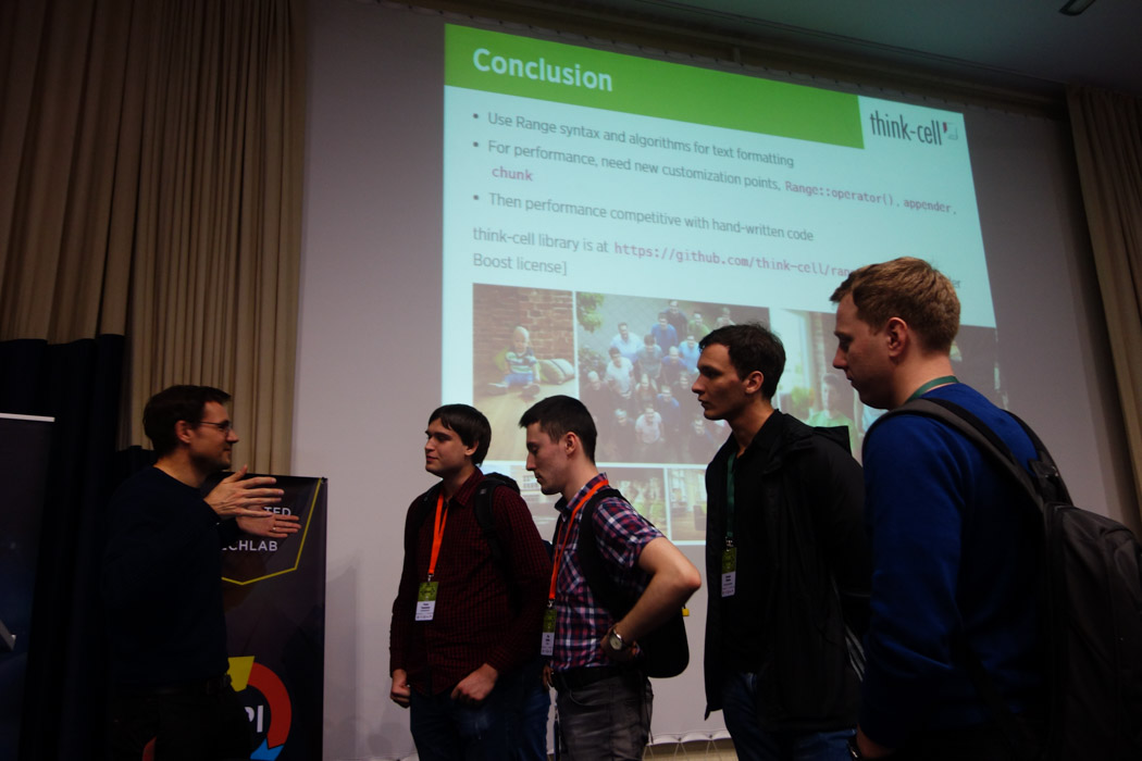 A line of engaged developers after Arno`s talk