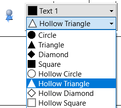 Choose milestone shape from the floating toolbar