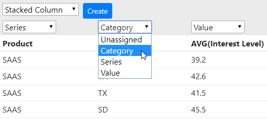 Assign Tableau data columns to think-cell data sheet parts