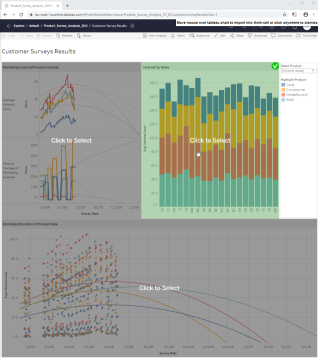 Select view on Tableau dashboard