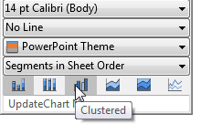 Context toolbar with row of chart type icons