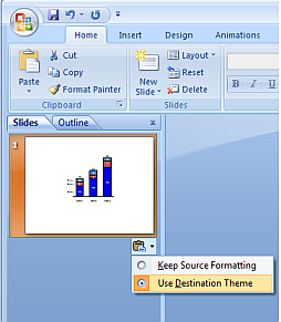 kb0159 when copying a slide from one presentation into another the